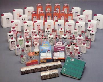 Nuestra completa gama de productos para el cuidado de la piedra HMK